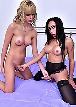 This combination just cant fail because put in same bed two of our best models both so atractive and horny. Barbara is a rising star with so much pote