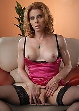 Hot transsexual MILF exploring her juicy cock & asshole