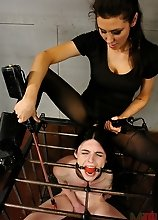 Transsexual slave gets roughly punished