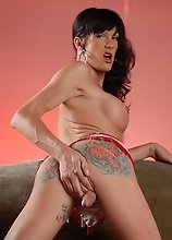 Beautiful tgirl Morgan Bailey posing