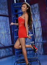 Venus Lux's Red Dress is So Sexy I Cum a LIttle in Excitement