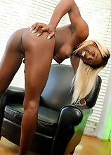 Slim black tgirl Kendall Dreams has an amazing body, big tits and an amazing ass! See this beautiful tgirl stroking her hard cock!